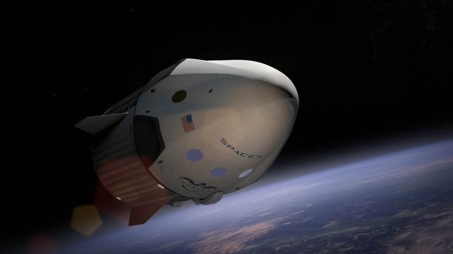 Космический корабль компании SpaceX вернулся наЗемлю