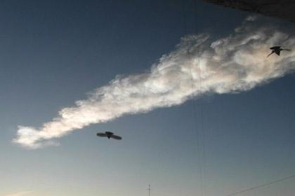 Челябинский метеорит протаранил НЛО
