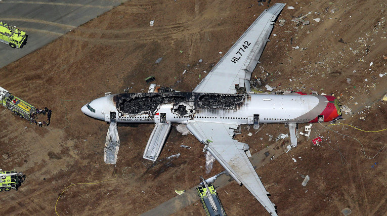 крушения самолёта фото