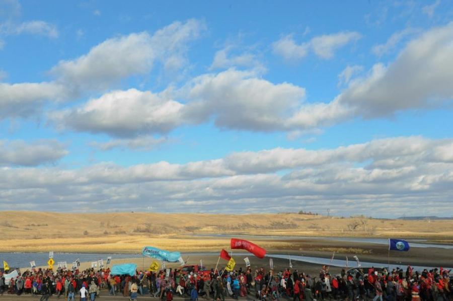 ВСША 750 человек вышли надемонстрации против возведения нефтепровода