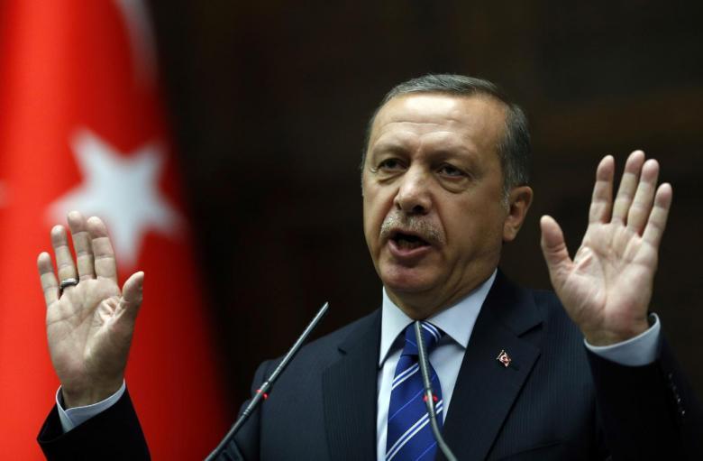 Эрдоган объявил , что турецкие войска вСирии сражаются  только  стерроризмом