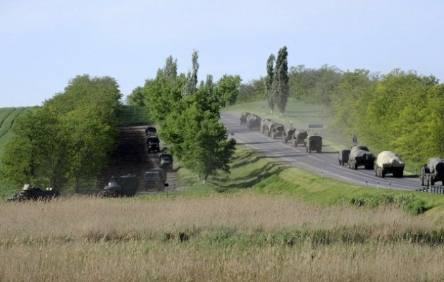 Российские военные силы сосредоточены вблизи Украины