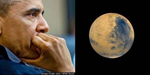 Обама: США хотят отправить человека наМарс к2030-м годам