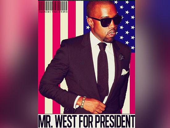 Рэпер Канье Уэст хочет баллотироваться напоста президента США