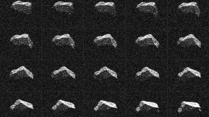 Ученые показали фотографии астероида, пролетевшего мимо Земли 6февраля