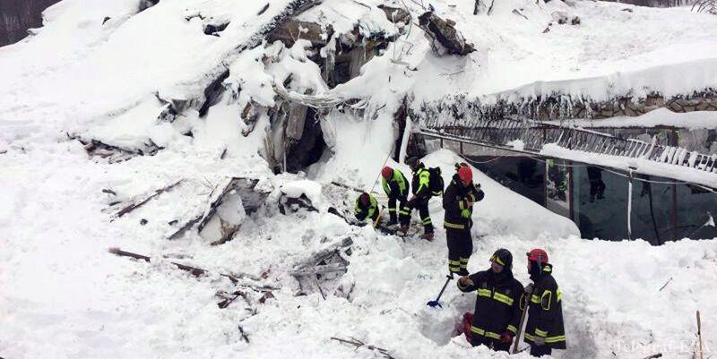 Размещено видео спасательной операции витальянском отеле