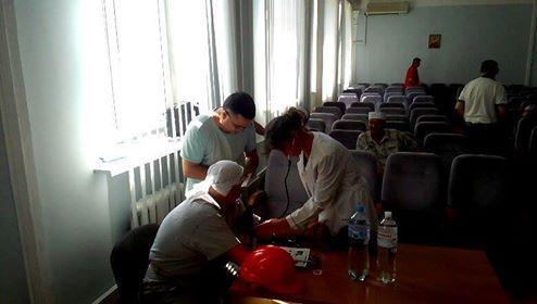 Голодающий шахтер Виктор Трифонов поджег себя напресс-конференции вМинэнергоугля